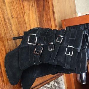 Aldo buckle boots